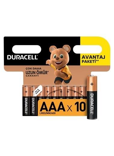 Duracell Duracell Dayanıklı 10'Lu Alkalin Aaa Ince Kalem Pil Renkli